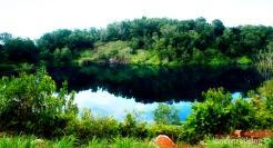 abandoned quarries at Ubin