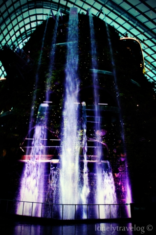 Waterfall at night