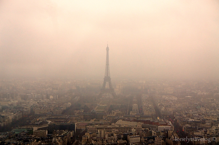 View of Eiffel Tower from Tour Montparnasse