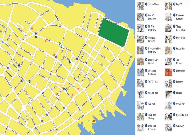 Penang Murals Map