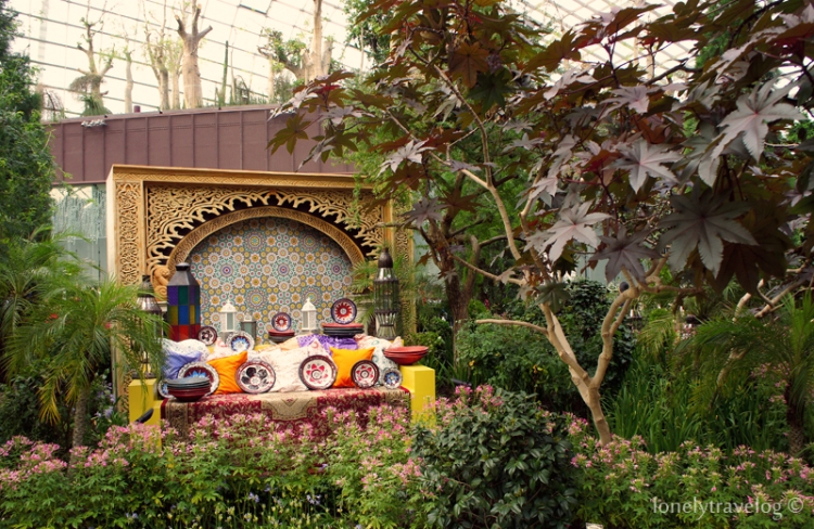 enjoy the persian garden floral display at the flower dome from now till 3 august 2014