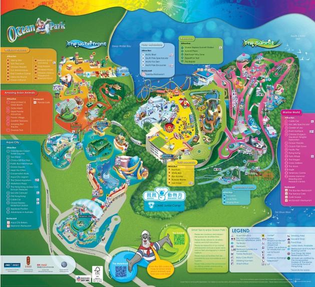 Ocean Park Map - English