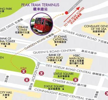 Peak Tram map