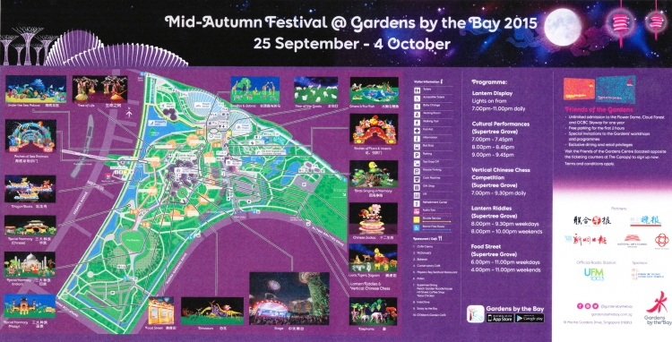 Mid Autumn Festival Map 2015 Gardens by the Bay