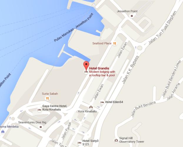 Grandis Hotel Map