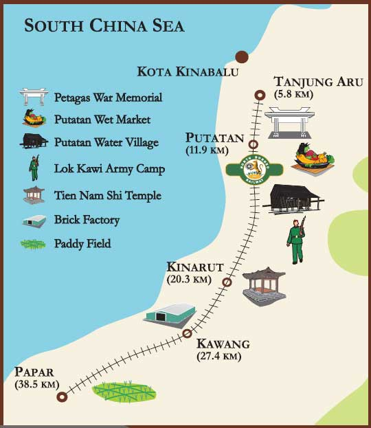 Route Map North Borneo Railway