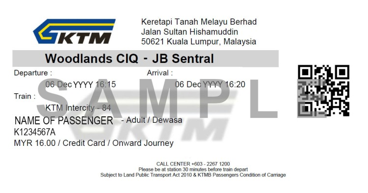 SAMPLE eTicket