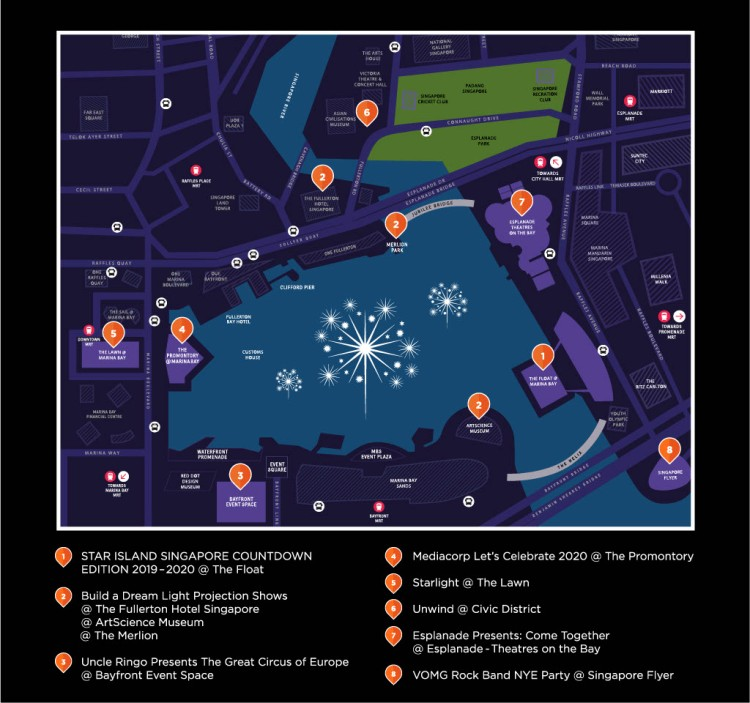 Countdown Marina Bay Map 2019-20